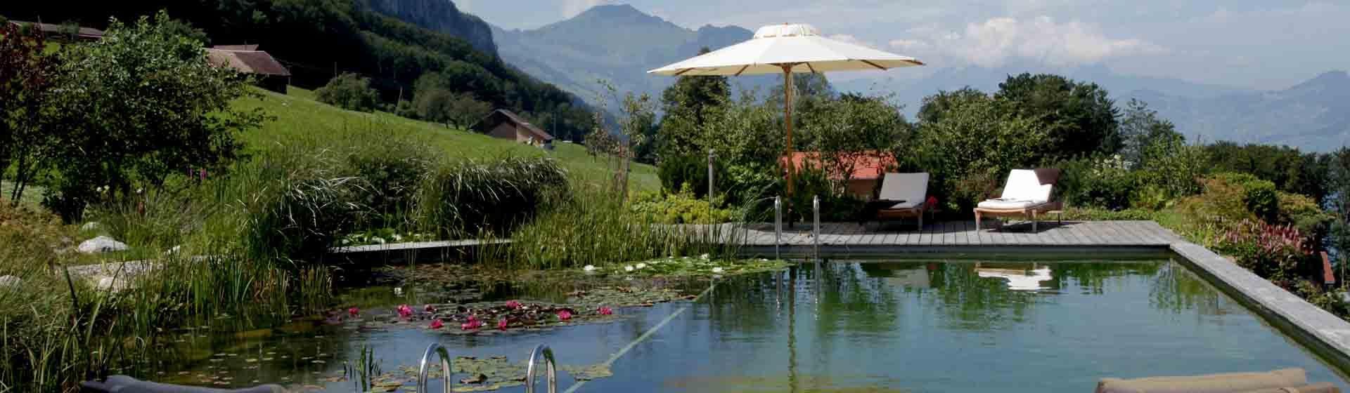 Schwimmteich Modul W28 - JSZE - JardinSuisse Zentralschweiz - Gärtner aus Luzern, Ob- und Nidwalden, Schwyz, Uri und Zug